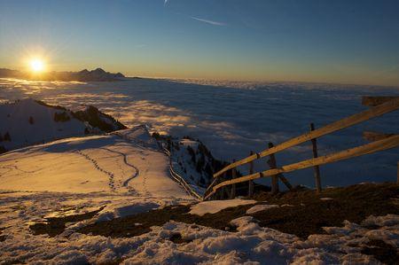Sonnenuntergang: Die Berg-Königin kippt