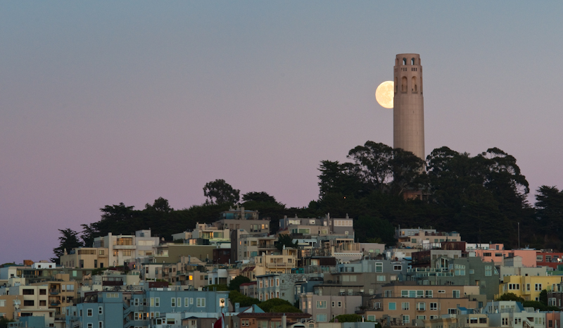 Coit Tower in San Francisco. © Peter Sennhauser