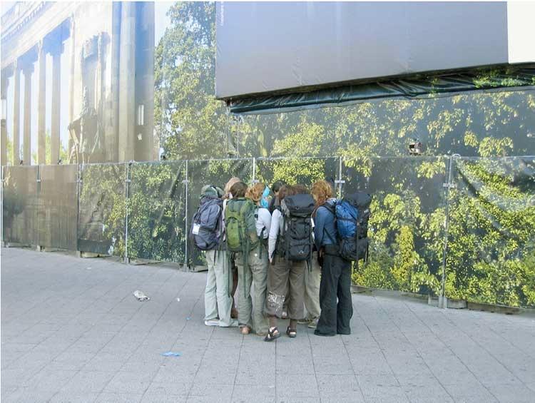 Frank Darius, Touristen, Berlin, 2005