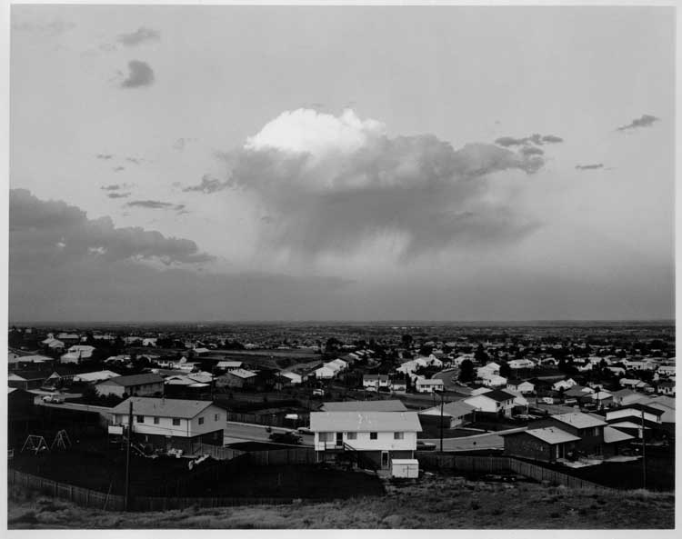 Robert Adams: Tract Housing, North Glenn and Thornton, Colorado, 1973, George Eastman House collections © Robert Adams, courtesy of Fraenkel Gallery, San Francisco, and Matthew Marks Gallery, New York