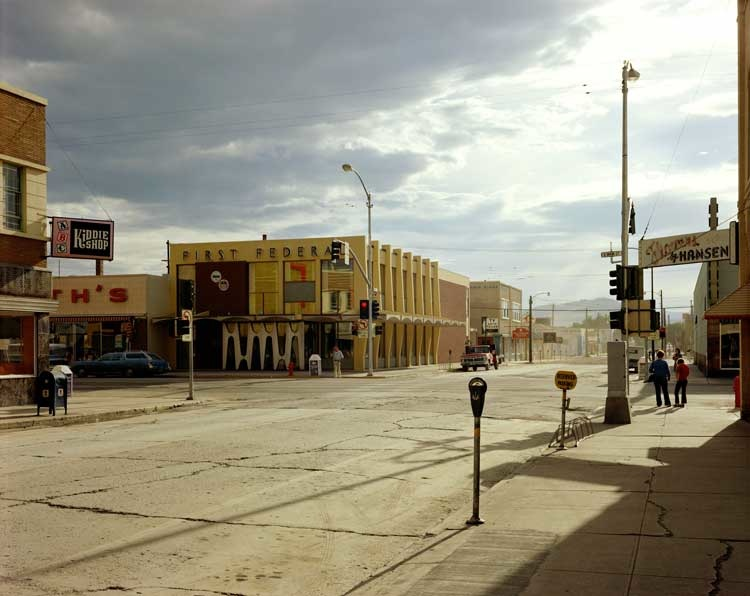 Stephen Shore: 2nd Street East and South Main Street, Kalispell, Montana, August 22, 1974,  Stephen Shore