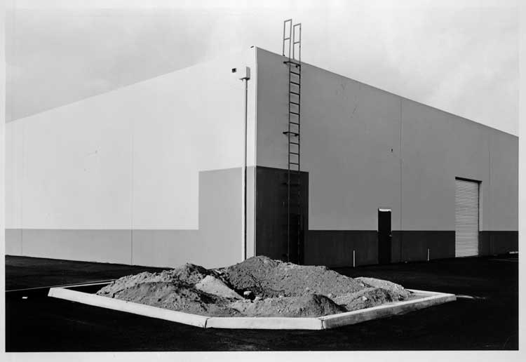 Lewis Baltz: South Corner, Riccar America Company, 3184 Pullman, Costa Mesa, 1974<br /> George Eastman House collections © Lewis Baltz