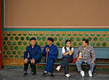 Chinesische Strassenszene: Die Geschichte fehlt