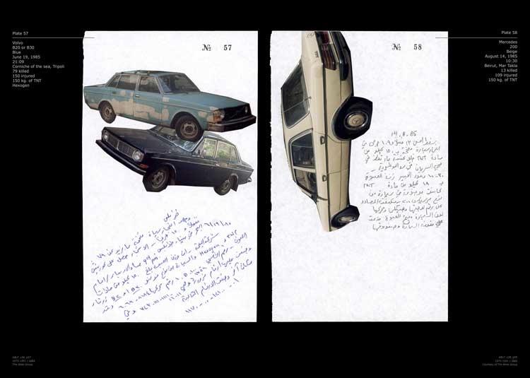 Walid Raad: Notebook Volume 38: Already Been in a Lake of Fire (Plates 57-58), 2004 © Walid Raad.