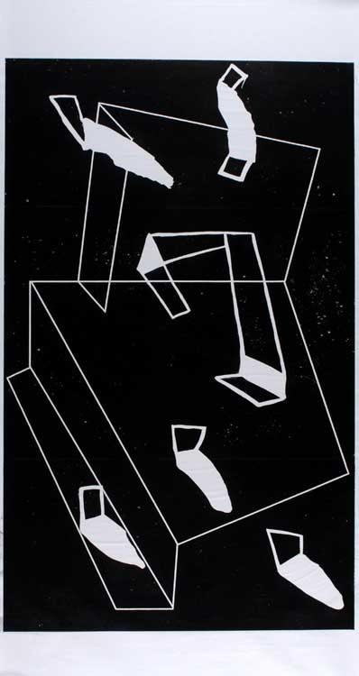 Pidder Auberger: Holzschnitt 10, 1983