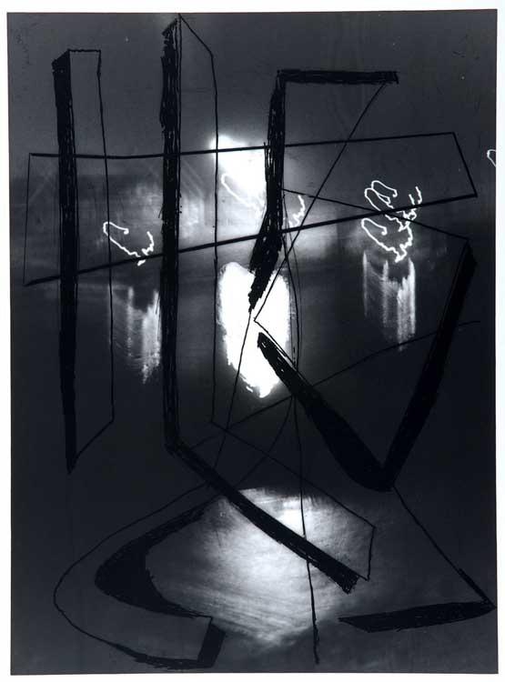 Pidder Auberger: Cliché-verre Gr. 6 über Foto, 1988