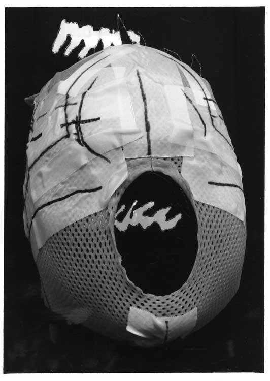 Pidder Auberger: Bestrahlungsmaske vor Cliché-verre 62, 2001