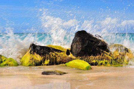 Meeresufer-Dynamik: Aggregatszustand undefiniert