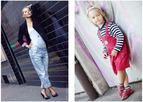 Fashionfotos: Gegenüberstellung