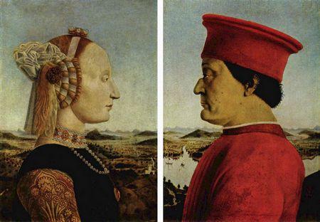 Battista Sforza und Federigo da Montefeltro aus dem Jahr 1472