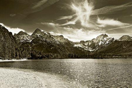 Alpenbild: Erinnerung an alte Meister