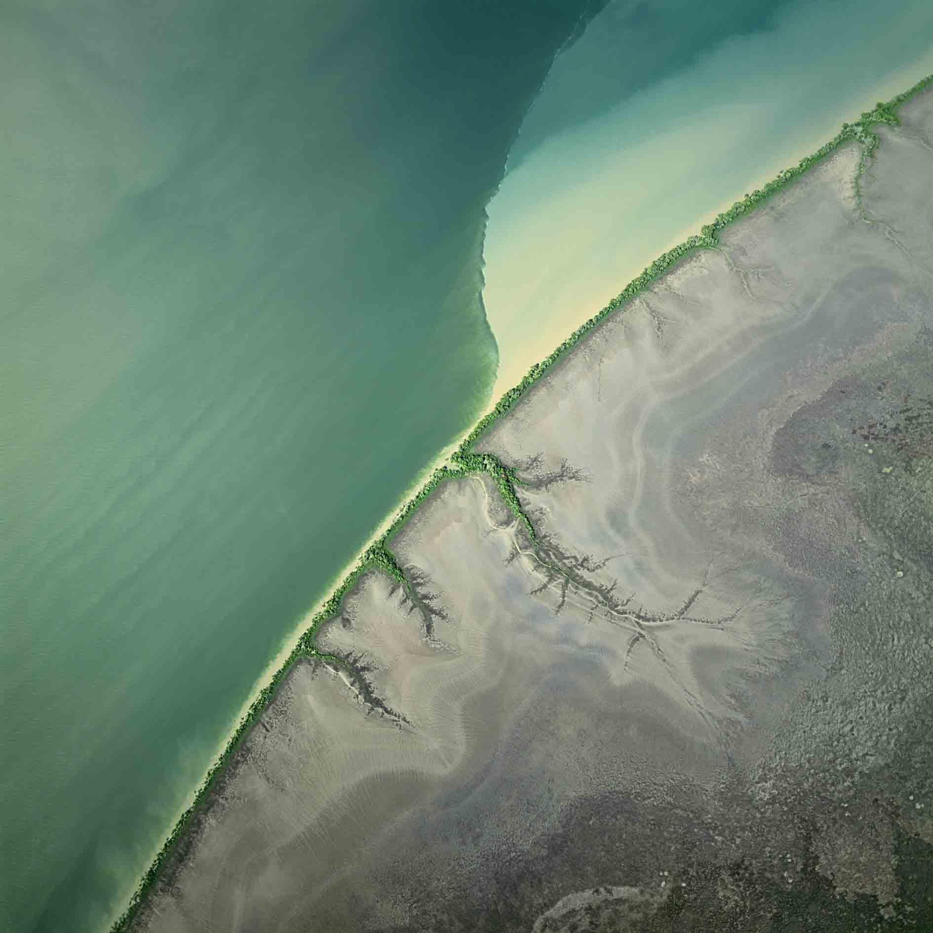 Erde aus der Vogelperspektive
