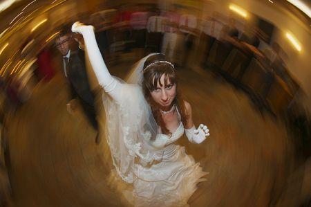 Hochzeitsfoto: Fischaugen-Tanz