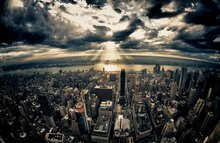New York - mit geradem Horizont