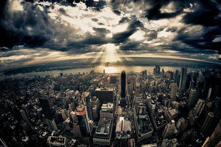 Dramatische Skyline: Vor Ort - mit Kamera