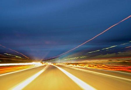 Konzeptfoto: Geschwindigkeit als Ausdruck
