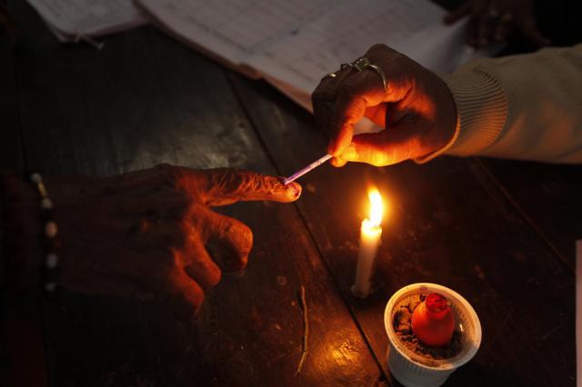 Wahlen in Indien (keystone)