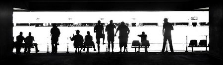 Silhouetten-Foto: Das Fuball-Panorama