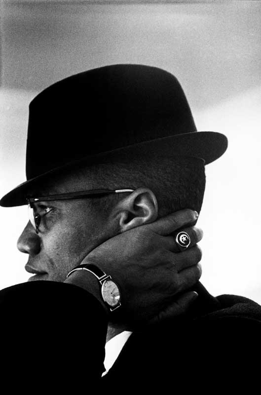 Eve Arnold: Malcolm X. Chicago, Illinois, 1961.  Eve Arnold / Magnum Photos