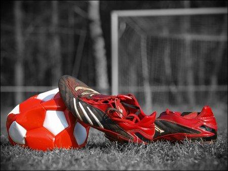 Fußballfoto in Color Key: Deplatzierter Farbeinsatz