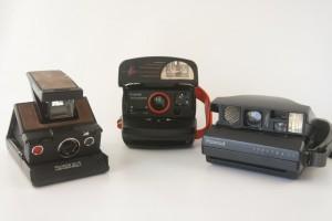 Verschiedene Polaroid Kameras