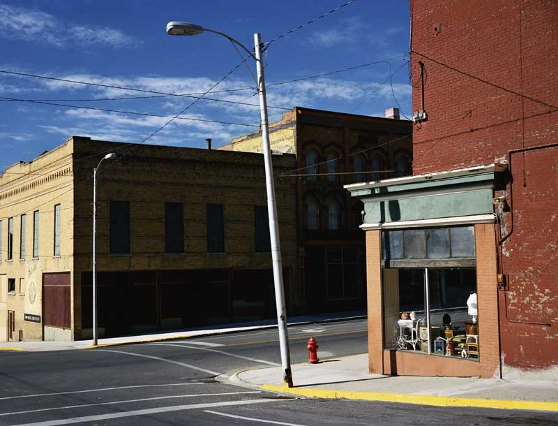 Wim Wenders: Street Corner Butte, Montana, 2003 c-print 186 x 224 cm. Courtesy Wenders Images