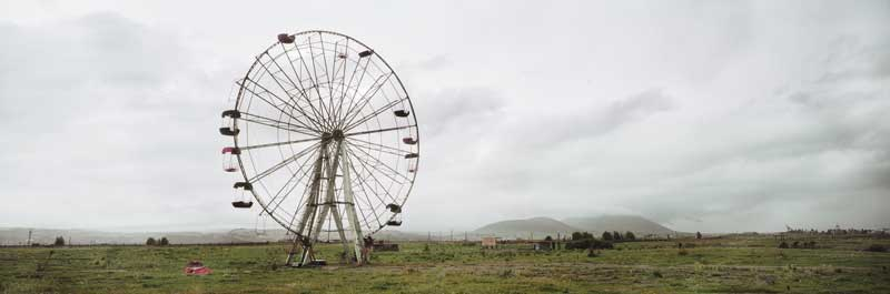 Wim Wenders: Ferris Wheel, Armenia, 2008. C-Print. 151.3 x 348 cm. Courtesy Wenders Images.