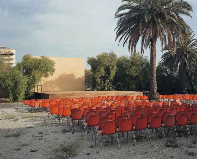 Wim Wenders: Open Air Screen, Palermo, 2007. C-Print. 186 x 213 cm. Courtesy Wenders Images.