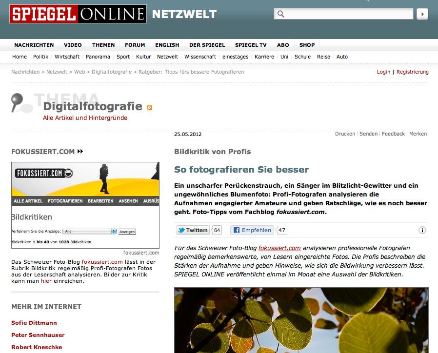 fokussiert.com bei Spiegel Online