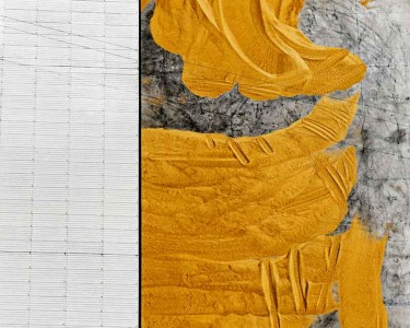 Giacomo Giannini: Mais nell aia. Courtesy Con-Temporary Art Gallery Paola Sosio. Mailand
