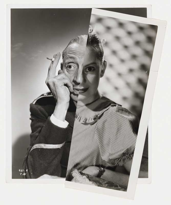 John Stezaker: Muse (Film Portrait Collage) XVIII, 2012,