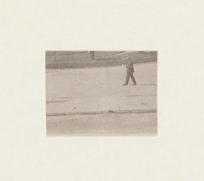 John Stezaker: Untitled II, Reader, 2012, Image Fragment, 3 x 3.9 cm, Courtesy of the artist and The Approach, London