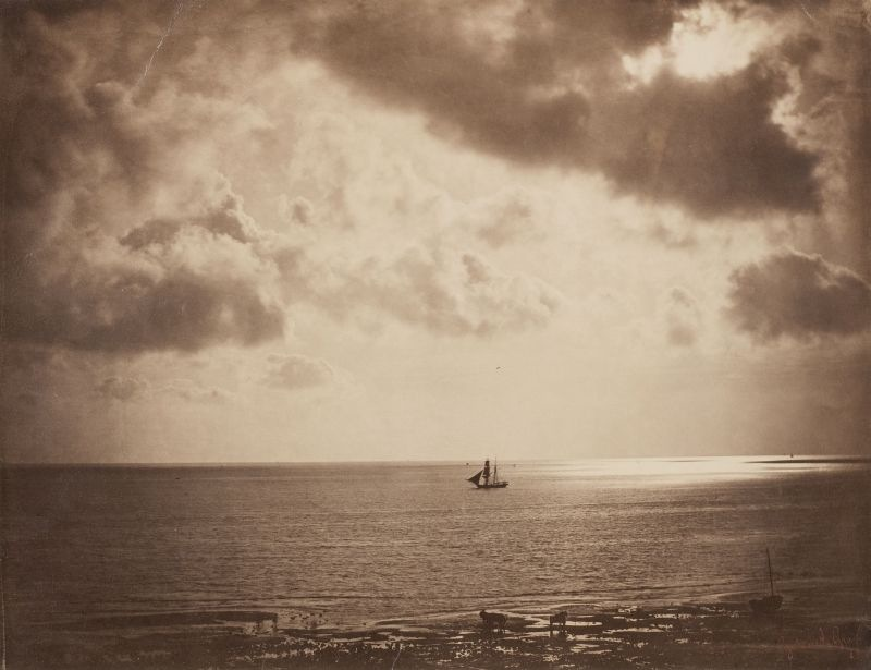 Brigg auf dem Wasser, Gustave Le Gray, 1856