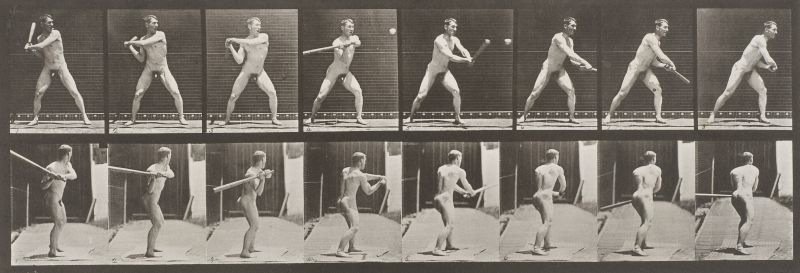 Mann beim Schlag, Eadweard J. Muybridge, ca. 1885