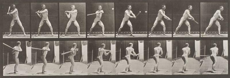 Mann beim Schlag, Eadweard J. Muybridge, ca. 1885