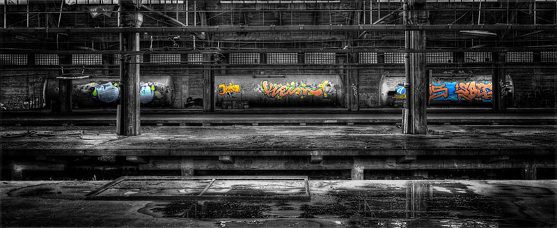 Leserfoto: HDR-Kesselwagons in Colorkey  Stimmung trotz Effekt 