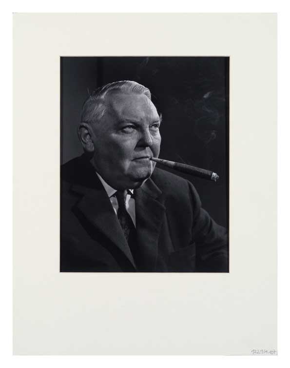 Yousuf Karsh: Dr. Ludwig Erhard, 60er Jahre