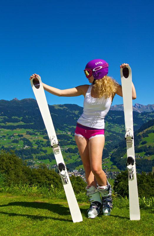 Leserfoto: Mit der Unterhose in den Alpen