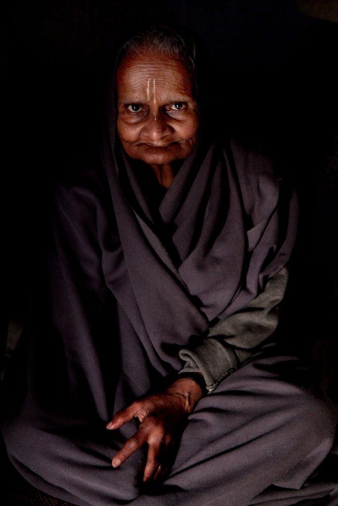 Indische Witwe in einem Heim, Vrindavan, Indien EPA/ANINDITO MUKHERJEE