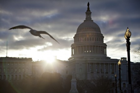 Sonnenaufgang ber Washington D.C., USA (Keystone/AP Photo/J. Scott Applewhite)