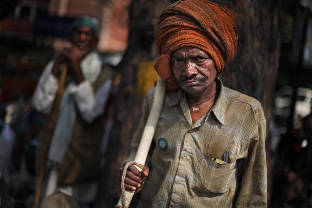 Indische Bauern protestieren gegen die Regierung in Neu Delhi, Indien (Keystone/AP Photo/Altaf Qadri)