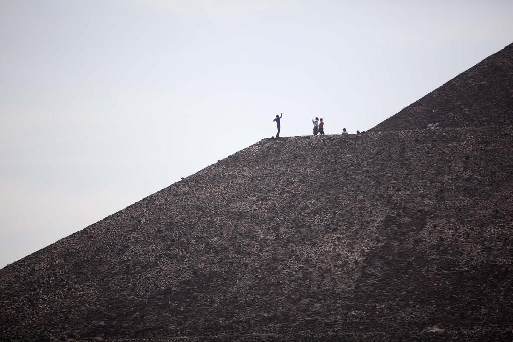Posieren auf der Pyramide in Teotihuacan, Mexiko (Keystone/AP Photo/Alexandre Meneghini)