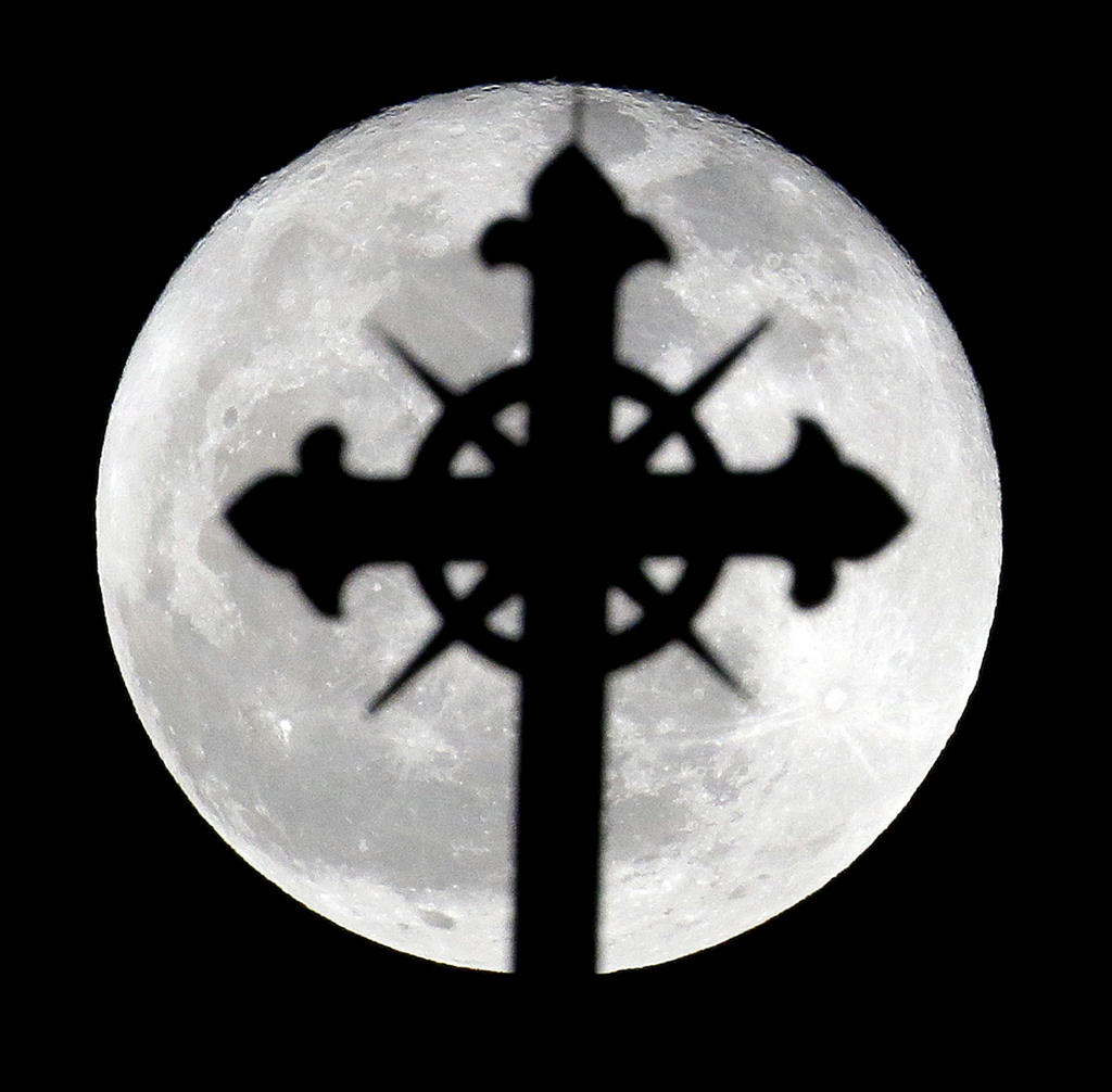 Vollmond über Jersey, USA. (Keystone/AP Photo/Julio Cortez)