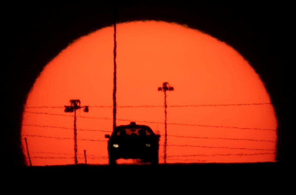 Vollmond über Kansas City, USA (Keystone/AP Photo/Charlie Riedel)