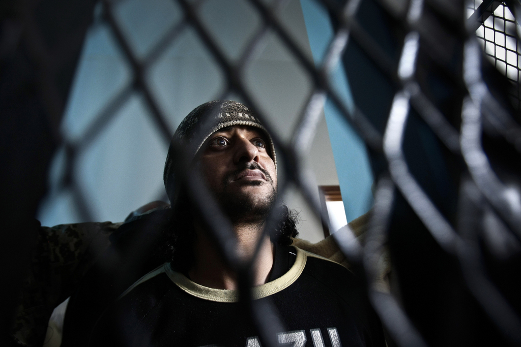 Ein verdächtiger Terrorist hinter Gittern in Sanaa, Yemen (Keystone/AP Photo/Hani Mohammed)