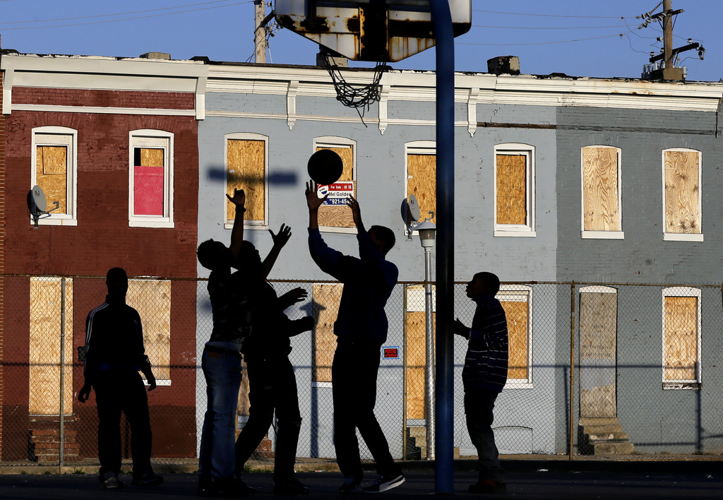 Basketball in Baltimore, einer der ärmsten Städte in den USA  (AP Photo/Patrick Semansky)