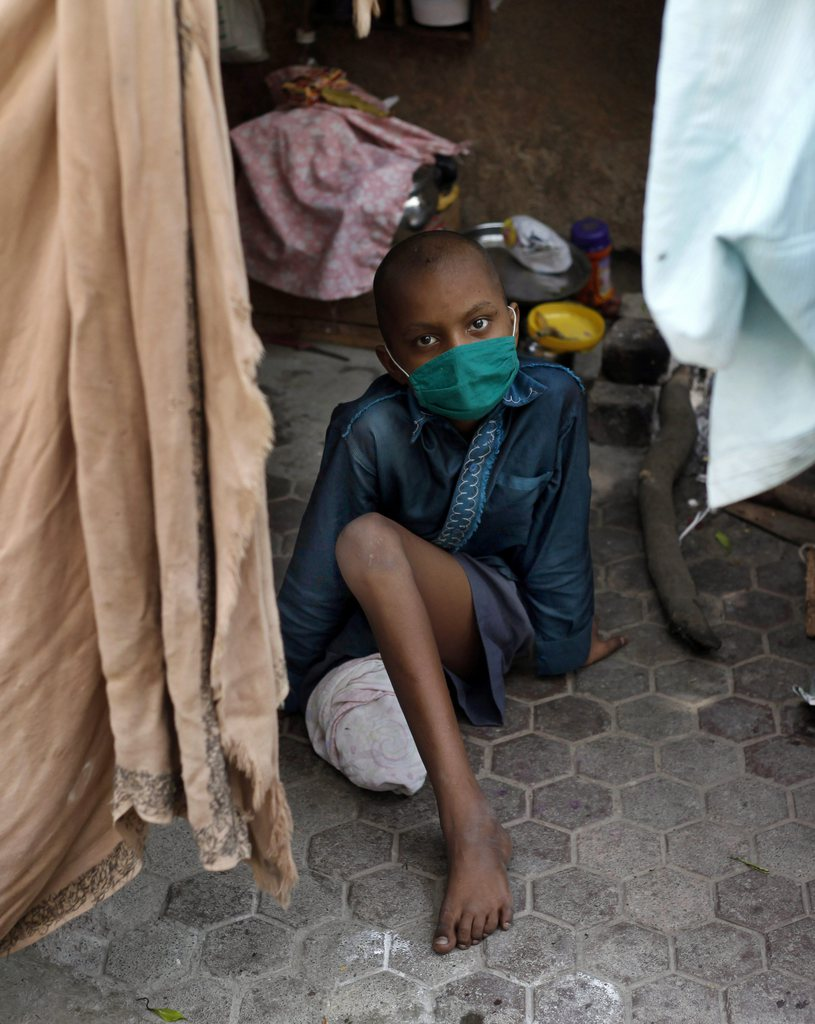 Krebspatientin in Mumbai, Indien, EPA/DIVYAKANT SOLANKI