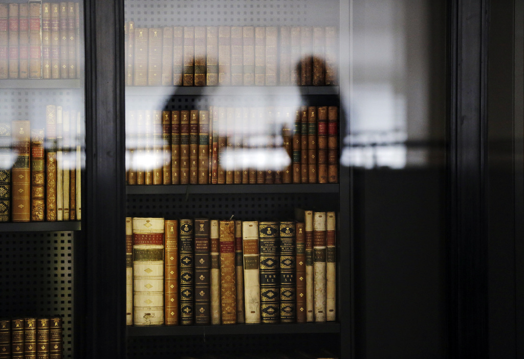 Szene aus der British Library in London, Großbritannien (Keystone/AP Photo/Lefteris Pitarakis)