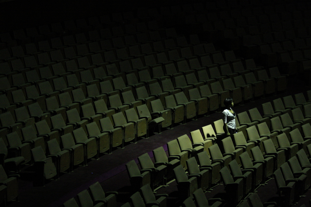 Im Zuschauerraum des National Theatre in Lagos, Nigeria (Keystone/AP Photo/Jon Gambrell)