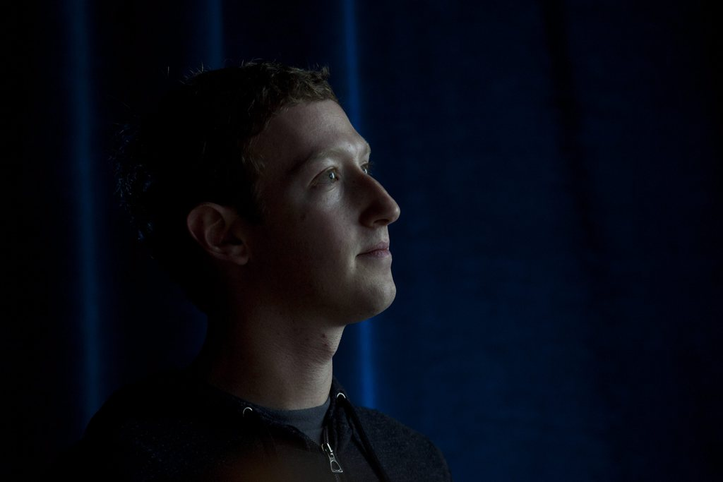 Mark Zuckerberg in Menlo Park, USA (Keystone/EPA/Peter DaSilva)